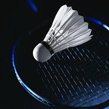 12 Stück Badminton Bälle, Gänsefeder Badminton Federbälle Shuttle Mit hoher Stabilität und Haltbarkeit Gänsefedern Federball Shuttlecocks Indoor Outdoor Sport Training Badmintonbälle - 5