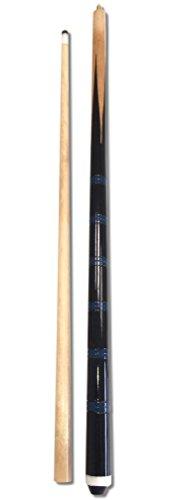 2xBillardqueue zweiteilig in toller schwarz-blauer Optik+10 Ersatzschraubleder - 2