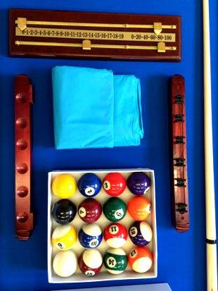 Billardtisch 8 ft Modell VINTAGE Blaumen FULL OPTIONAL Billard Billard-Spiel Messung 220 x 110 cm neue - 5