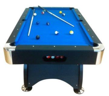 Billardtisch Pool Billard Tisch blau mit Zubehör robust 145 kg 7 ft - 1