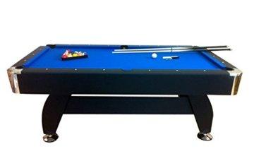 Billardtisch Pool Billard Tisch blau mit Zubehör robust 145 kg 7 ft - 2