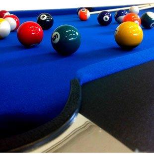 Billardtisch Pool Billard Tisch blau mit Zubehör robust 145 kg 7 ft - 3