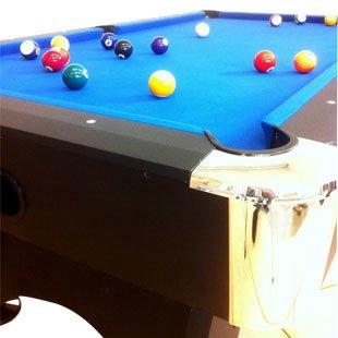 Billardtisch Pool Billard Tisch blau mit Zubehör robust 145 kg 7 ft - 7