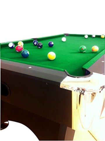 Billardtisch Pool Billard Tisch grün mit Zubehör robust 145 kg 7 ft schnelle Lieferung 2 Jahre Garantie - 3