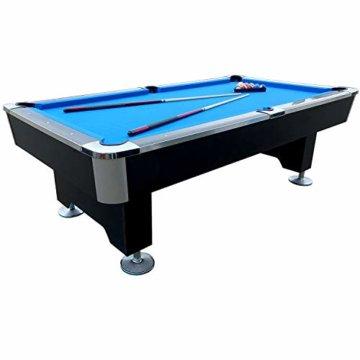 BuckShot Billardtisch 8ft Lemans 2 Leg (Blau/Schwarz) Pool mit Schieferplatte inklusive Zubehör - 2
