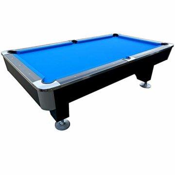 BuckShot Billardtisch 8ft Lemans 2 Leg (Blau/Schwarz) Pool mit Schieferplatte inklusive Zubehör - 3
