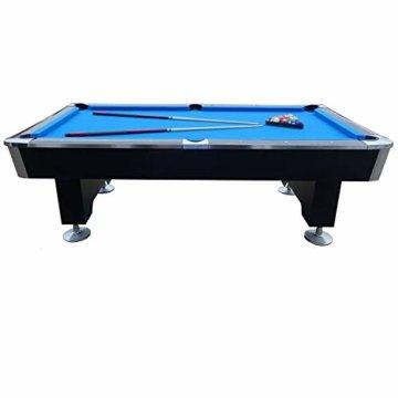 BuckShot Billardtisch 8ft Lemans 2 Leg (Blau/Schwarz) Pool mit Schieferplatte inklusive Zubehör - 4