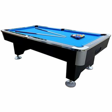 BuckShot Billardtisch 8ft Lemans 2 Leg (Blau/Schwarz) Pool mit Schieferplatte inklusive Zubehör - 1