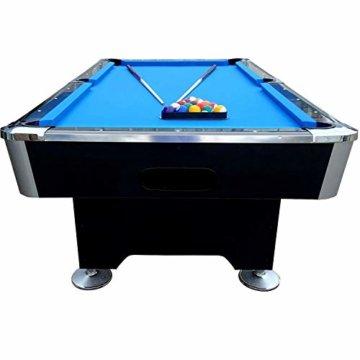 BuckShot Billardtisch 8ft Lemans 2 Leg (Blau/Schwarz) Pool mit Schieferplatte inklusive Zubehör - 5