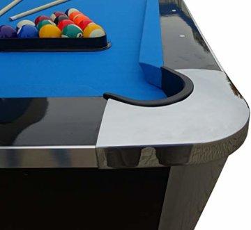 BuckShot Billardtisch 8ft Lemans 2 Leg (Blau/Schwarz) Pool mit Schieferplatte inklusive Zubehör - 6