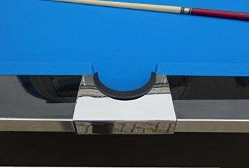 BuckShot Billardtisch 8ft Lemans 2 Leg (Blau/Schwarz) Pool mit Schieferplatte inklusive Zubehör - 7