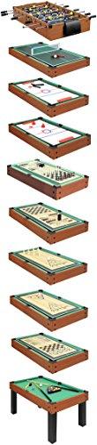 Carromco Multifunktionstischfussball Multigame Choice-XT 10-in-1 inklusive Billardkugeln, 2 Queues, 2 Kickerbälle, 06010 - 3