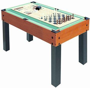 Carromco Multifunktionstischfussball Multigame Choice-XT 10-in-1 inklusive Billardkugeln, 2 Queues, 2 Kickerbälle, 06010 - 7