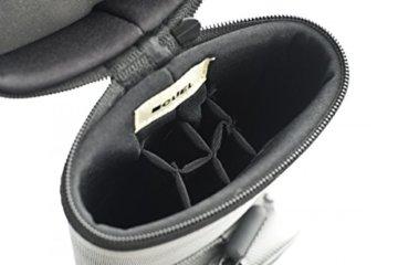 Cuel Billard-Köcher Sport silber 2/4 für Pool-Billard-Queues, mit Schultergurt, Tragegriff und zwei Seitentaschen für Billardzubehör - 2