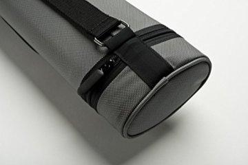 Cuel Billard-Köcher Sport silber 2/4 für Pool-Billard-Queues, mit Schultergurt, Tragegriff und zwei Seitentaschen für Billardzubehör - 3