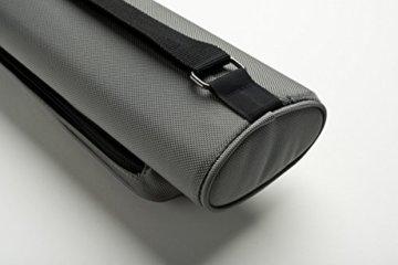Cuel Billard-Köcher Sport silber 2/4 für Pool-Billard-Queues, mit Schultergurt, Tragegriff und zwei Seitentaschen für Billardzubehör - 4