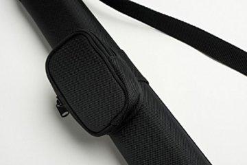Cuel Sport Billard-Köcher Schwarz 1/1 für Pool-Billard-Queues, mit Schultergurt und Seitentasche für Billardzubehör - 4