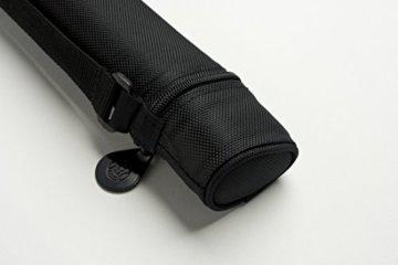 Cuel Sport Billard-Köcher Schwarz 1/1 für Pool-Billard-Queues, mit Schultergurt und Seitentasche für Billardzubehör - 1