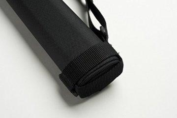 Cuel Sport Billard-Köcher Schwarz 1/1 für Pool-Billard-Queues, mit Schultergurt und Seitentasche für Billardzubehör - 5