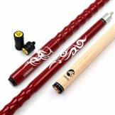 "Cuesoul 58"" Billardqueues 19oz Pool Queue Personalisiert Ahorn Pool Cue Stick 13mm Tips Very Nice Grip with Joint Protector/Shaft(CSPC-HL101) - 1"