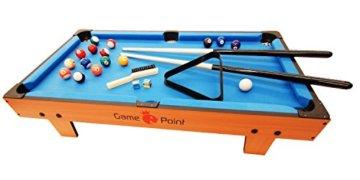 Exklusiver Mini Billardtisch GamePoint in Farbe Königsblau, Größe ca. 92x52x20 cm - Angebot ! - 3