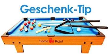 Exklusiver Mini Billardtisch GamePoint in Farbe Königsblau, Größe ca. 92x52x20 cm - Angebot ! - 1