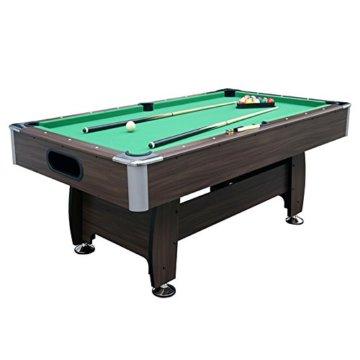Jalano Billardtisch 7ft Snooker in 2 Farben Pool Billiard Set inkl. Zubehör 214 x 122 x 82 cm (LxBxH) - 7 Fuß Tischbillard mit Kugelrücklauf - 2