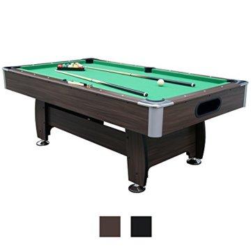 Jalano Billardtisch 7ft Snooker in 2 Farben Pool Billiard Set inkl. Zubehör 214 x 122 x 82 cm (LxBxH) - 7 Fuß Tischbillard mit Kugelrücklauf - 1