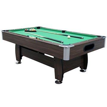 Jalano Billardtisch 7ft Snooker in 2 Farben Pool Billiard Set inkl. Zubehör 214 x 122 x 82 cm (LxBxH) - 7 Fuß Tischbillard mit Kugelrücklauf - 5