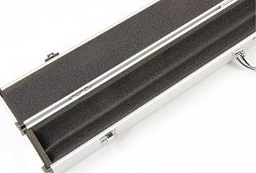 Jonny 8 Ball Koffer für Billardqueue, strukturiertes Aluminium, für 2-teiligen Queue - 3