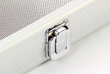 Jonny 8 Ball Koffer für Billardqueue, strukturiertes Aluminium, für 2-teiligen Queue - 4
