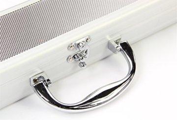 Jonny 8 Ball Koffer für Billardqueue, strukturiertes Aluminium, für 2-teiligen Queue - 6