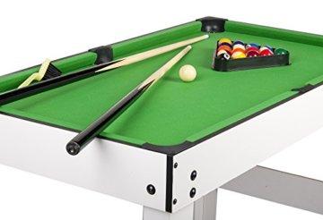 Leomark Multigame Spieletisch Billiard Hockey Tischtennis 4in1  Multifunktionstisch Multiplayer Inkl. Komplettem Zubehör Ab 8 Jahre - 3