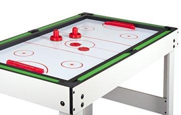 Leomark Multigame Spieletisch Billiard Hockey Tischtennis 4in1  Multifunktionstisch Multiplayer Inkl. Komplettem Zubehör Ab 8 Jahre - 4