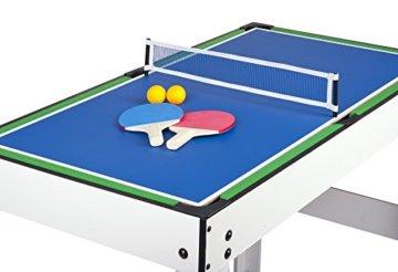 Leomark Multigame Spieletisch Billiard Hockey Tischtennis 4in1  Multifunktionstisch Multiplayer Inkl. Komplettem Zubehör Ab 8 Jahre - 5