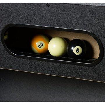 """Maxstore 7 ft Billardtisch Premium"""" + Zubehör, 9 Farbvarianten, 214x122x82 cm (LxBxH), schwarzes Dekor, grünes Tuch - 5"""