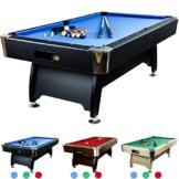 """Maxstore 8 ft Billardtisch Premium"""" + Zubehör, 9 Farbvarianten, 244x132x82 cm (LxBxH), schwarzes Dekor, blaues Tuch - 1"""