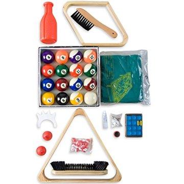 Maxstore Billard - Zubehörset ALL IN ONE - Komplettset inkl. 5 Queues, Billardkugeln, Dreieck und diversen Extras, Zubehör Set, Pool, Snooker, schadstoffgeprüft - 4