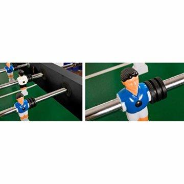 """Maxstore Kickertisch """"Leeds"""" in 4 Farben, Tischfußball inkl. 4 Bälle + 2 Getränkehalter, Tischkicker ca. 60kg - Schwarz - 4"""