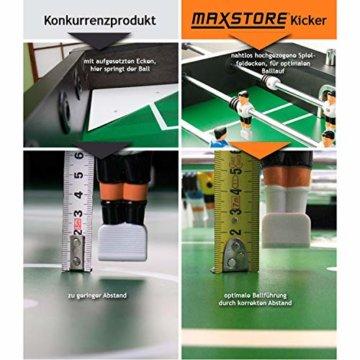 """Maxstore Kickertisch """"Leeds"""" in 4 Farben, Tischfußball inkl. 4 Bälle + 2 Getränkehalter, Tischkicker ca. 60kg - Schwarz - 7"""
