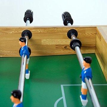 """Maxstore Tischfussball """"Glasgow"""", 4 Dekore: Holz/Schwarz / Blau/Soccer, inkl. 2 Bälle, 2 Getränkehalter, höhenverstellbare Füße, hochgezogene Spielfeldecken, Tischkicker, Kicker, Kickertisch - 6"""