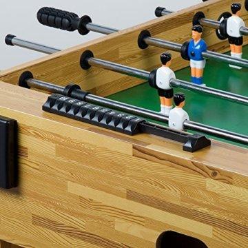 """Maxstore Tischfussball """"Glasgow"""", 4 Dekore: Holz/Schwarz / Blau/Soccer, inkl. 2 Bälle, 2 Getränkehalter, höhenverstellbare Füße, hochgezogene Spielfeldecken, Tischkicker, Kicker, Kickertisch - 7"""