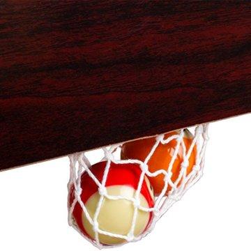 Mini Pool Billardtisch inkl. Zubehör (2 Queues, Kugeln, Dreieck, Kreide, Bürste), 3 Dekore, Maße: 92x52x19cm - 3