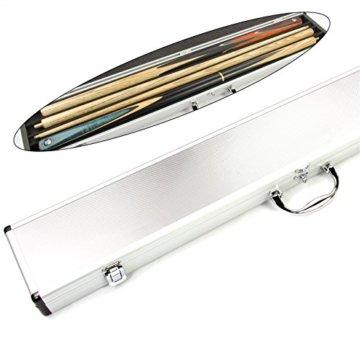 Queue-Koffer aus Aluminium für 2 Stück 1/2-geteilteQueues - 1