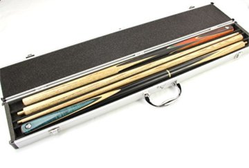 Queue-Koffer aus Aluminium für 2 Stück 1/2-geteilteQueues - 6