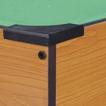 Relaxdays Tischbillard, Billardtisch in Holz-Optik, mit 2 Queues, Kugeln, Dreieck und Kreide, B x T: 51 x 31 cm, grün - 4