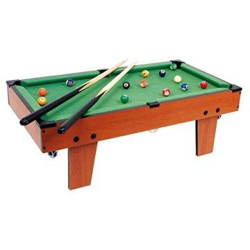 Tischbillard Maxi aus Holz, ideal zum Mitnehmen, schult spielerisch die Hand-Augen-Koordination, für kleine und große Billard-Fans ab 5 Jahre - 1